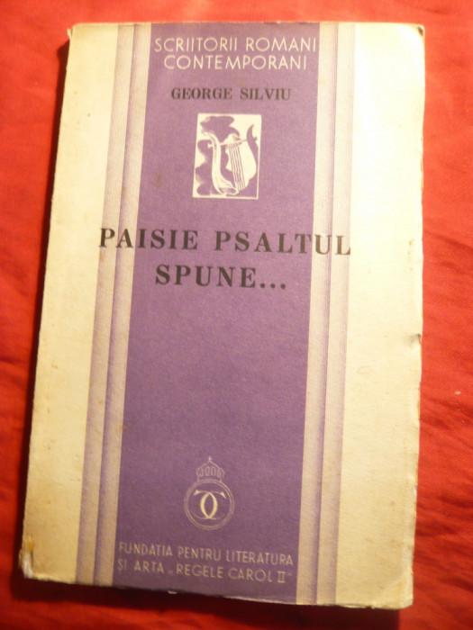 George Silviu - Paisie Psaltul spune... - Prima Ed.1934 - Poezii