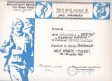 Bnk fil Diploma Expozitia filatelica Salonul Casei Armatei Ploiesti 1987