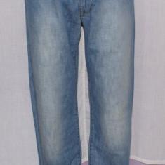 Blugi barbati ARMANI Jeans AJ 007 Indigo Series marimea W 32, Culoare: Albastru, Lungi, Prespalat, Drepti, Normal