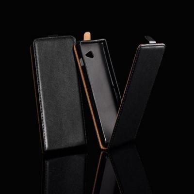 Husa Motorola MOTO E Flip Case Slim Inchidere Magnetica Black foto