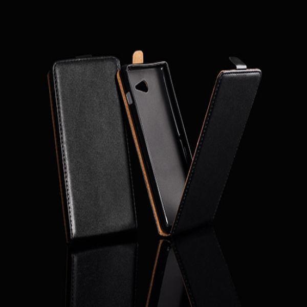 Husa Motorola MOTO E Flip Case Slim Inchidere Magnetica Black foto mare