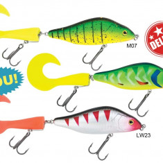 Voblere Baracuda Deluxe 9104 Soft Tail 100mm 40g - sinking in 3 variante - Vobler pescuit