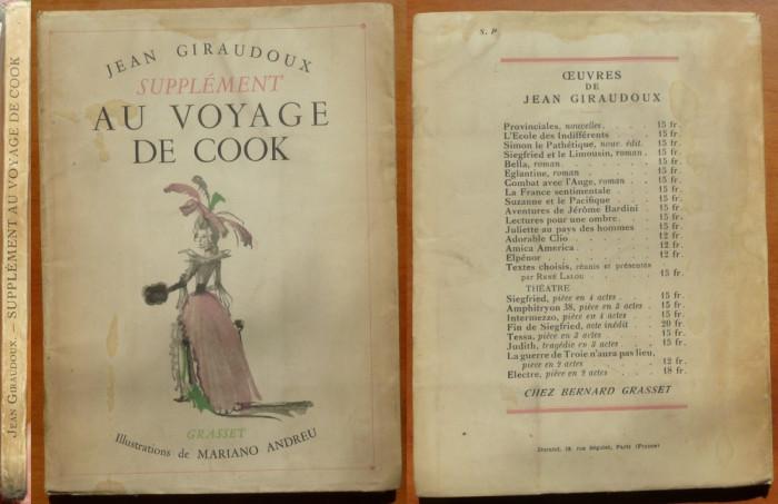 Jean Giraudoux , Supplément au voyage de Cook , 1937 , editia 1 de lux ilustrata