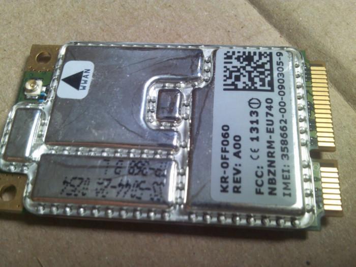 Wireless 5505 HSDPA UMTS KR-0FF060 3g WWAN Dell XPS M1210 PP11S inspiron D430