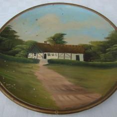 Frumoasa farfurie din ceramica pictata manual - Arta Ceramica