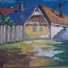 Tablou semnatura NAGY OSZKAR reducere - Pictor roman, Peisaje, Ulei, Avangardism