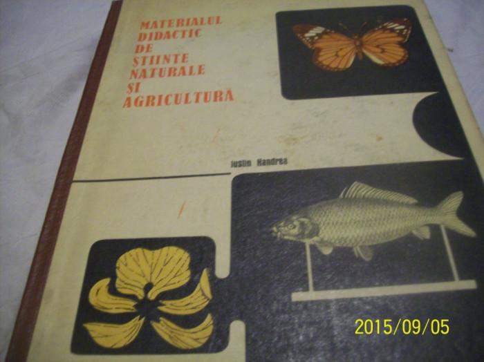 materialul didactic de stiinte naturale si agricultura -1969