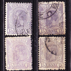 Timbre ROMANIA 1900-1911= CAROL I -
