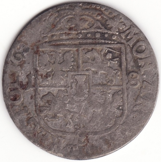 Regatul Poloniei si Marele Ducat al Lituaniei - 18 Groszy 165X - Argint foto mare