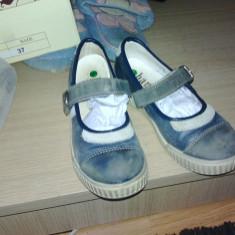 Pantofi mas 27 piele int ext cu 21 cm - Pantofi copii, Culoare: Albastru, Fete, Piele naturala