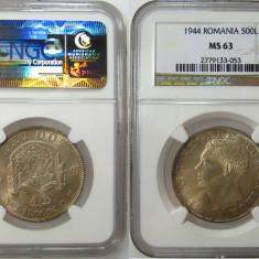 Romania -500 Lei 1944 MS 63 NGC Piesa de colectie ! - Moneda Romania