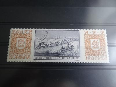 LP654-Ziua marcii postale romanesti-Serie completa stampilata 1967 foto