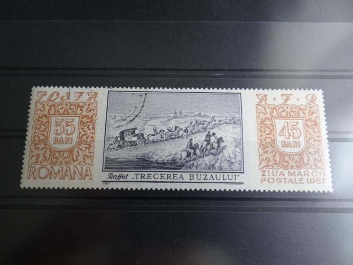LP654-Ziua marcii postale romanesti-Serie completa stampilata 1967 foto mare