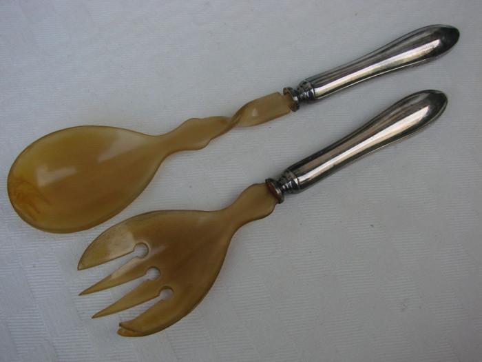 Set de lingura si furculita argintate, marcate Prima NS