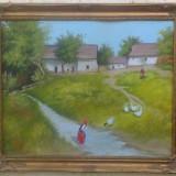 Tablou scena de la tara NEOGRADY Antal - Pictor strain, Peisaje, Ulei, Impresionism