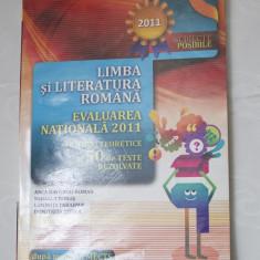 Evaluarea Nationala 2011- Lb. si lit. romana - paralela 45 - Manual scolar paralela 45, Clasa 8
