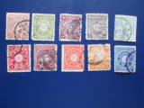 TIMBRE VECHI JAPONIA 1889-1900, Stampilat