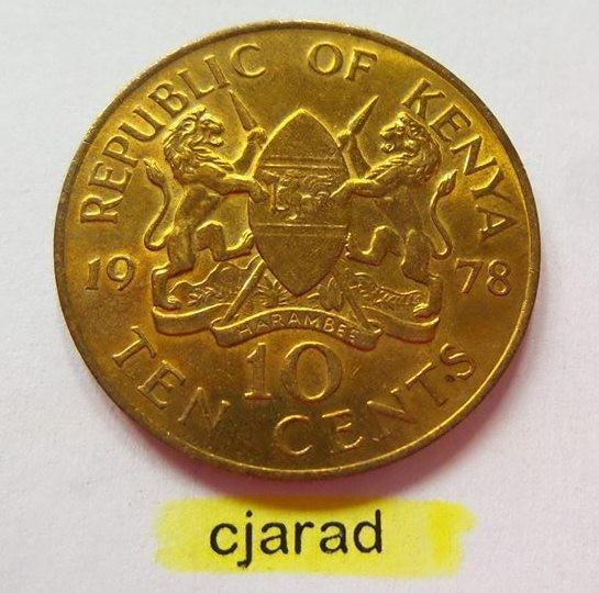 Moneda 5 Centi - Kenya 1978 (*cod 779) UNC foto mare