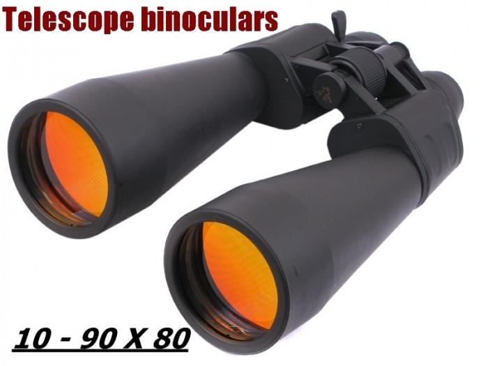 BINOCLU SAKURA. Cu zoom optic 10 - 90 x 60. Excelent.