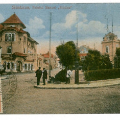 648 - Olt, SLATINA, park, bank - old postcard - used - 1920 - TCV - Carte Postala Oltenia dupa 1918, Circulata, Printata