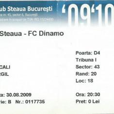 Bilet meci Steaua - Dinamo (2009)