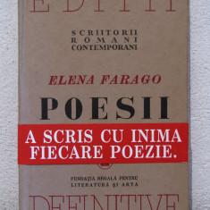 ELENA FARAGO -POESII, AN APARITIE 2010 - Carte poezie