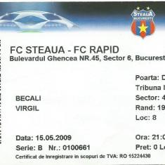 Bilet meci Steaua - Rapid (2009)