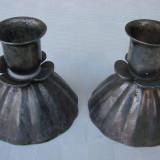 Doua sfesnice argintate de masa, Sfesnic