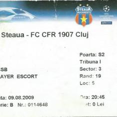 Bilet meci (player escort) Steaua - CFR Cluj (2009)