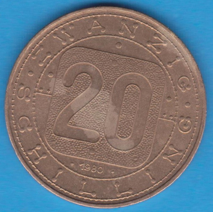 (M125) MONEDA AUSTRIA - 20 SCHILLING 1980, JUBILIARA, CELE 9 PROVINCII