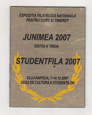 bnk fil Trofeu Expozitia filatelica Junimea 2007 Cluj Napoca foto