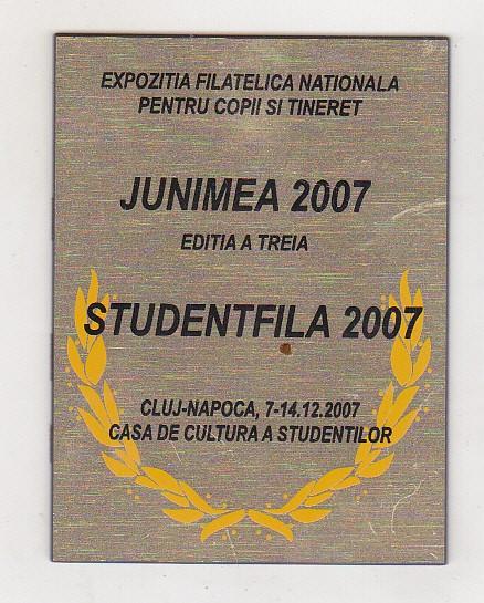 bnk fil Trofeu Expozitia filatelica Junimea 2007 Cluj Napoca foto mare