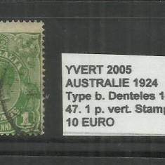 AUSTRALIA 1924 - 47. 1 P., Stampilat
