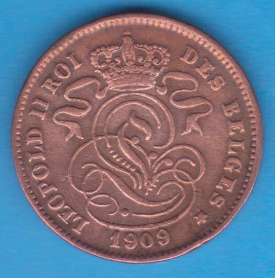 (M146) MONEDA BELGIA - 2 CENTS 1909, DES BELGES