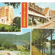 CPI (B5579) BAILE TUSNAD. HOTEL OLT, LACUL SFANTA ANA, LACUL CIUCAS - Carte Postala Transilvania dupa 1918, Circulata, Fotografie