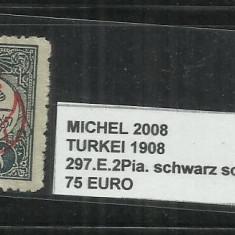 TURCIA 1908 - 297. E. 2 PIA., Stampilat