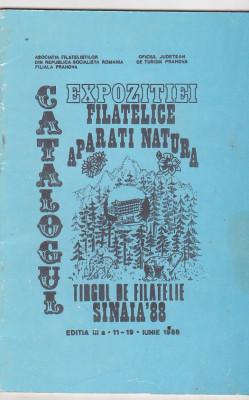 bnk fil Catalogul expozitiei filatelice Aparati natura Sinaia 1988 foto