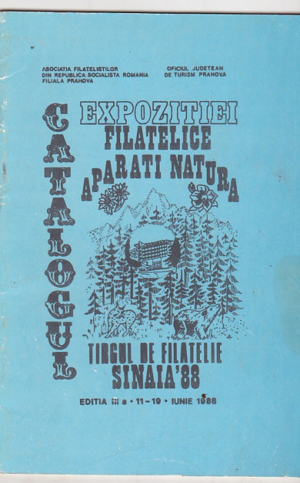 bnk fil Catalogul expozitiei filatelice Aparati natura Sinaia 1988 foto mare