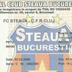Bilet meci Steaua - CFR Cluj (2008)