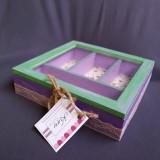 Cutie bijuterii compartimentata handmade