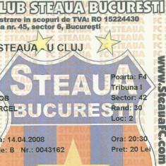 Bilet meci Steaua - U. Cluj (2008)