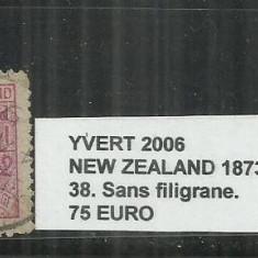 NEW ZEALAND 1873 - 38 SANS FILIGRANE., Stampilat