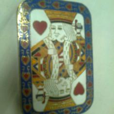 Carti de joc, cutie din alama - Set poker