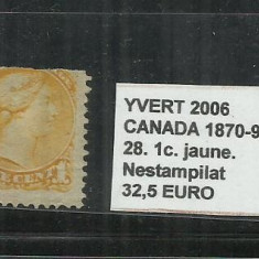 CANADA 1870 - 93 - 28. 1 C., Nestampilat