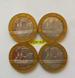 Lot / Set Monede 10 Franci, bimetal - Franta 1988, 1989, 1990, 1991 (*cod 806), Europa