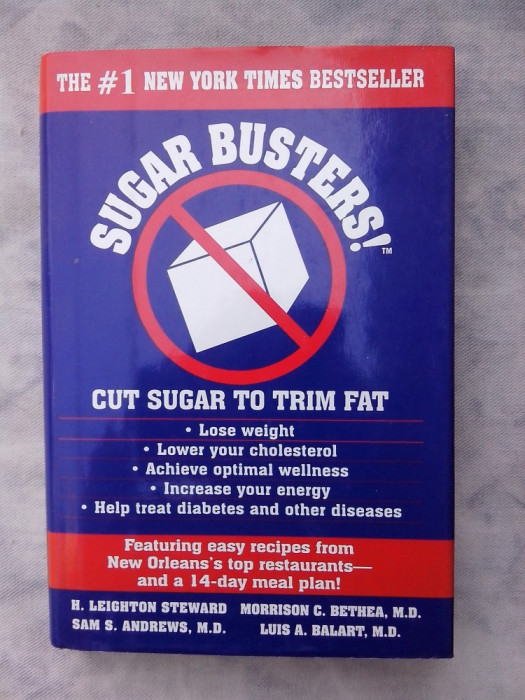 Sugar busters! - Cut sugar to trim fat foto mare