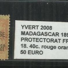 MADAGASCAR 1895 - 18. 40 C., Stampilat