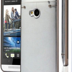 Husa silicon rigid transparent margine neagra bumper HTC ONE M7 - Husa Telefon HTC, Negru