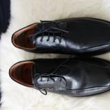 Pantofi piele naturala MasterClass, marimea 42 - Pantofi barbat, Culoare: Negru, Casual