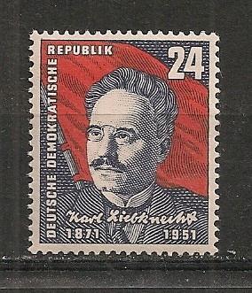 D.D.R.1951 80 ani nastere K.Liebknecht-om politic  CD.483 foto mare